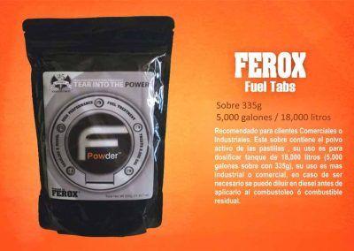 ferox 5000 galones en polvo